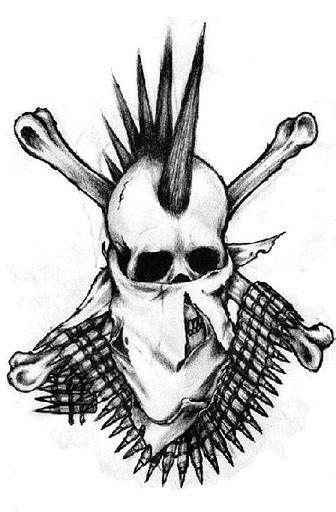 Mohawk Outline Designs | 43 best mohawk skull tattoo designs images on pinterest