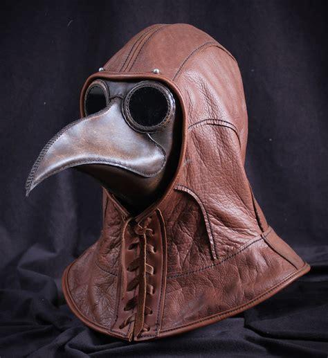 leather mask plague doctor masks tom banwell designs
