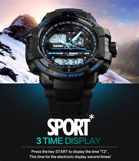 Jam Tangan Casio Sport Ld Anti Air Black Original Skmei skmei jam tangan analog digital pria ad1164 black blue jakartanotebook