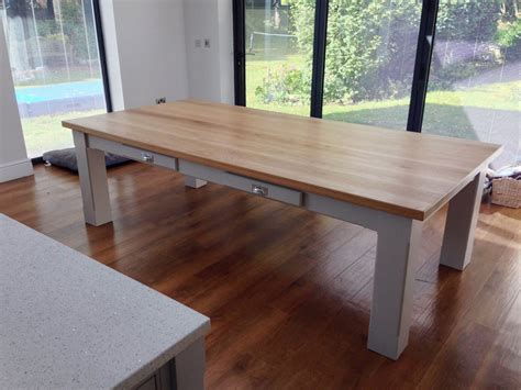 bespoke dining table oak top wolds furniture company