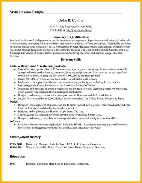Resume Writing Edmonton 9 Skills On Resume Bursary Cover Letter