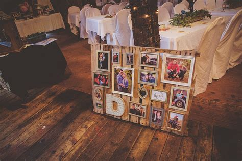 wedding pallet collage diy kendra denault photography