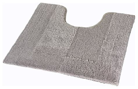 thick bathroom rugs silver gray thick plush reversible cotton bathroom rug