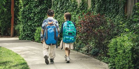what age is best for to walk to school alone