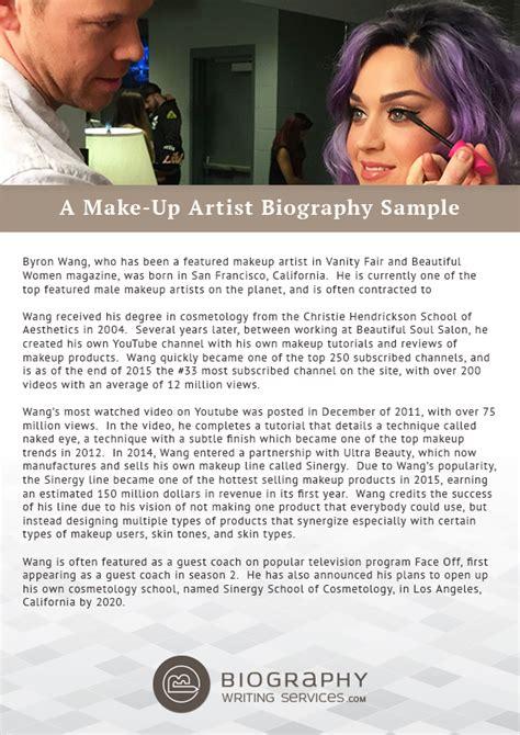makeup artist bio exles mugeek vidalondon