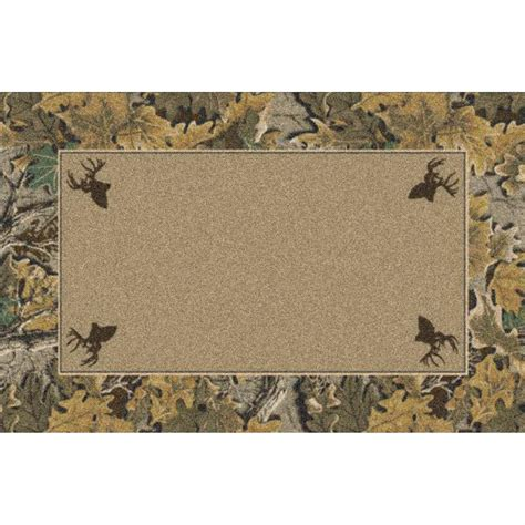 Camo Area Rug Marshall 3x4 Advantage Classic 174 Camo Border Area Rug 131588 Rugs At Sportsman S Guide
