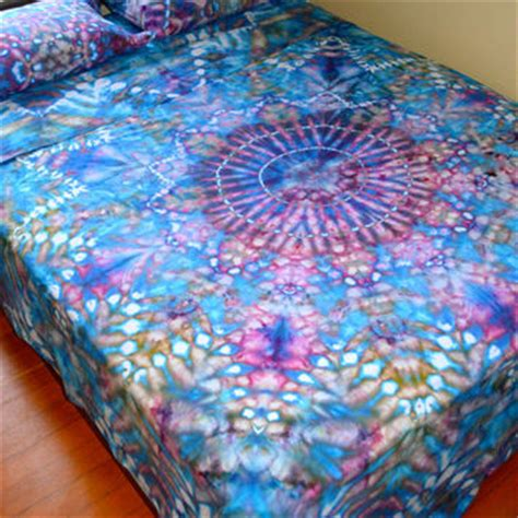 trippy bed sheets organic hand dyed queen sheet set water from