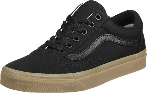 Black Brown vans skool shoes black brown