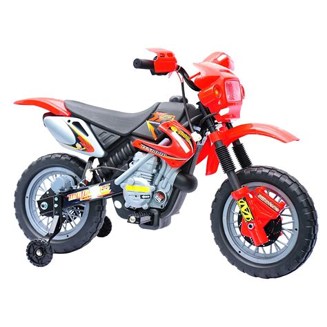 battery powered motocross bike aosom 6v electric ride on motorcycle powered dirt