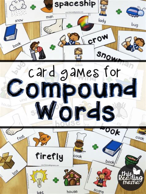 printable compound word games free compound words pack