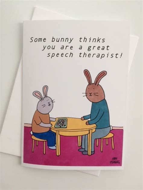 thank you letter after therapist speech therapist rabbit thank you card 5x7