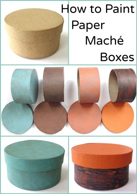 How To Make Paper Mache Boxes - how to paint paper mach 233 boxes 4 exles