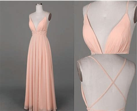 simple    neck long prom dress  criss cross