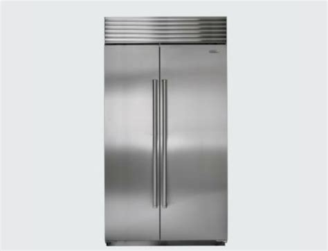 sub zero side by side 5697 sub zero 42 quot side by side refrigerator contemporary by