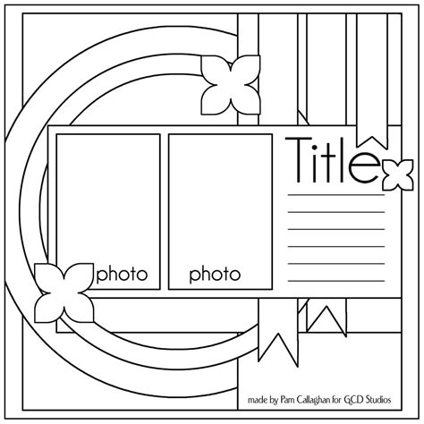 free scrapbooking templates to scrapbook templates on card sketches