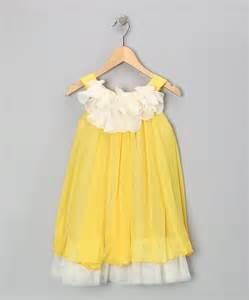 yellow amp white floral yoke dress toddler amp girls