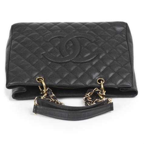 Chanel Gst Caviar Ghw 5266 chanel caviar grand shopping tote gst black ghw 19379