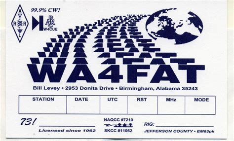qsl card templates for word qsl cards wa4fat