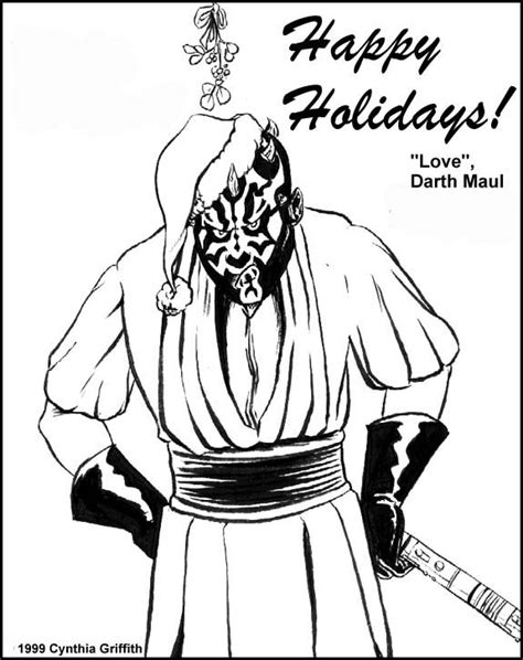 free coloring pages of darth maul