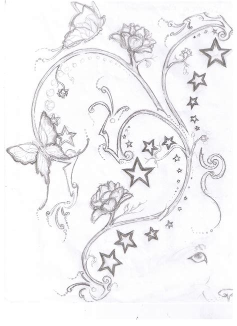 star and butterfly tattoo designs 9 best designs images on