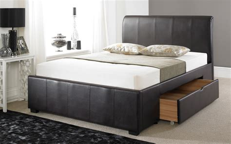 drawer bed frame faux leather drawer bed frame mattress