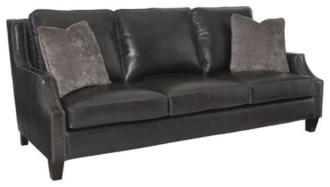 bernhardt duncan leather sofa transitional sofas by