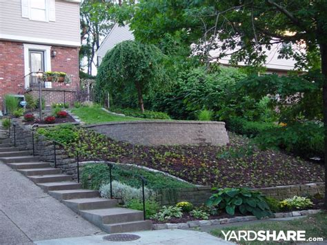 landscaping ideas for downward sloping backyard landscaping ideas gt front yard slippery slope solution