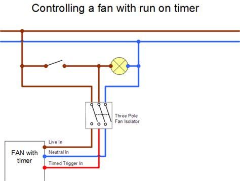 how to wire bathroom extractor fan with timer extractor fan wiring diywiki
