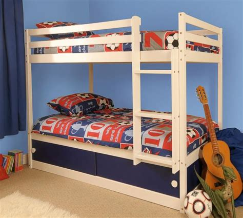 Childrens Bunk Bed With Storage Wooden Childrens White Single Bunk Bed With Storage Ebay