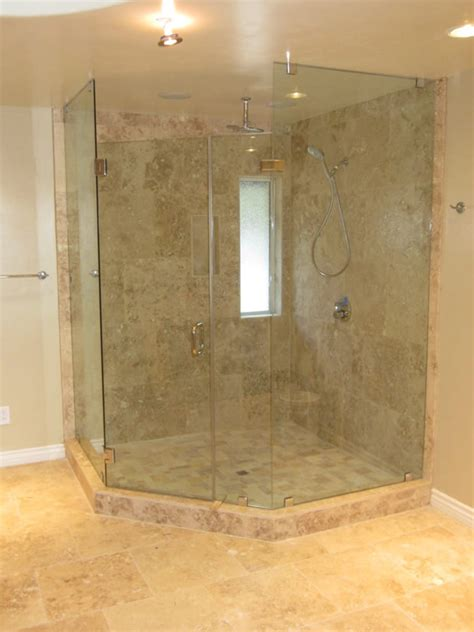 Large Shower Doors Neo Angle Enclosure Mission Patriot Glass And