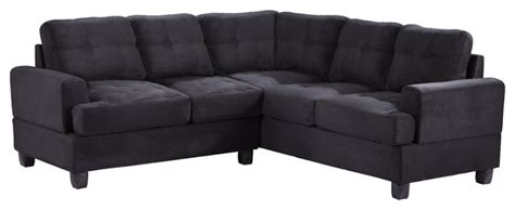 Black Suede Sectional Sofa Tufted Sectional Sofa Black Suede Contemporary Sectional Sofas By Furniture