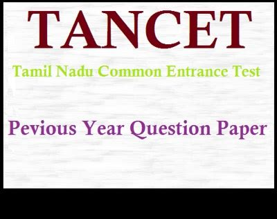 Tancet 2017 Mba Syllabus Pdf by Tancet Previous Year Question Papers For Civil Ece Me