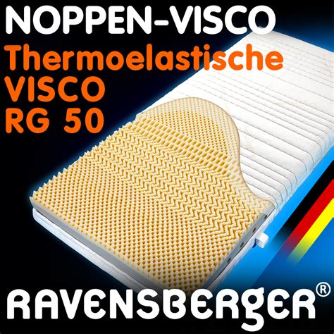 matratze ravensberger thermoel noppen visco kaltschaum matratze alle gr 246 223 en