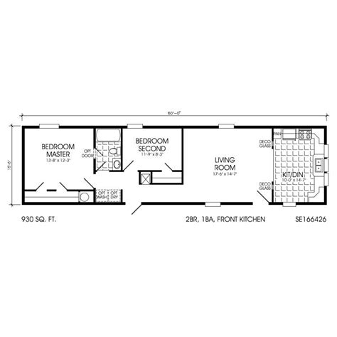 one bedroom mobile home floor plans single wide trailer house plans single wide mobile homes