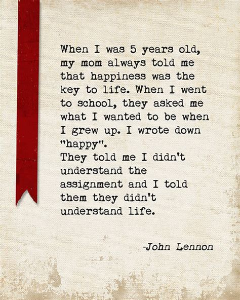 Bedroom Vanity Sale When I Was 5 Years Old John Lennon Quote Motivational