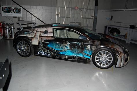 custom bugatti 1 7 million bugatti veyron gets custom wrap via epson
