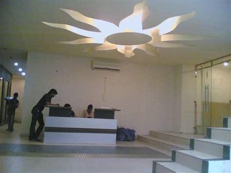 Sun Shaped Ceiling Design In A Reception Gharexpert Sun Ceiling L