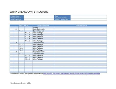 30 work breakdown structure templates free template lab