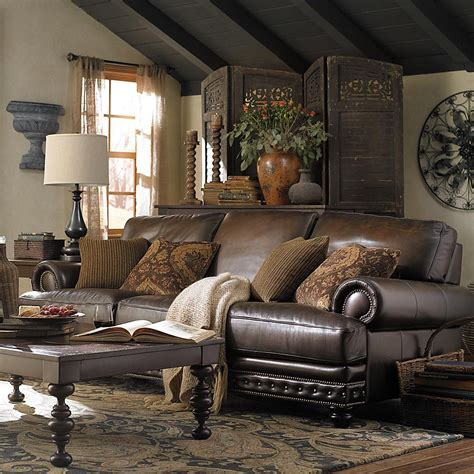 Brown Leather Decor by Missing Product Living Room Ideas Living Room Living
