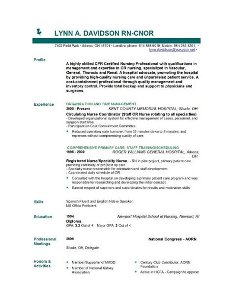 resume sles for nurses with no experience sle resume registered no experience 100