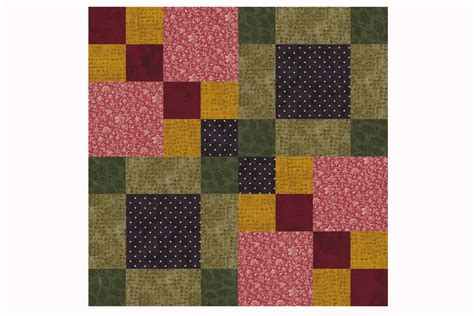 Patchwork Quilt Blocks Patterns - four square patchwork quilt block pattern