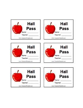 hall pass with name