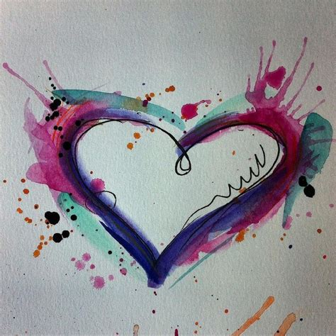 watercolor heart tattoo best 25 watercolor tattoos ideas on