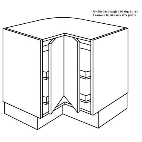 meuble d angle bas cuisine meuble d angle 224 2 plateaux tournants 224 90 degr 233 e