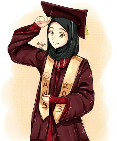 Anime Muslimah | muslimah anime graduate i think maybe i will become