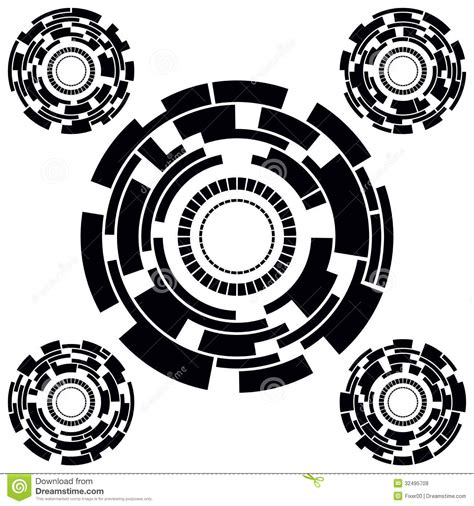 black white futuristic circle charts stock vector image of diagram chart