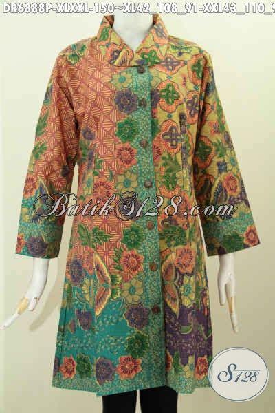 Dress Wanita Bagus contoh baju batik kerah miring wanita dress batik elegan