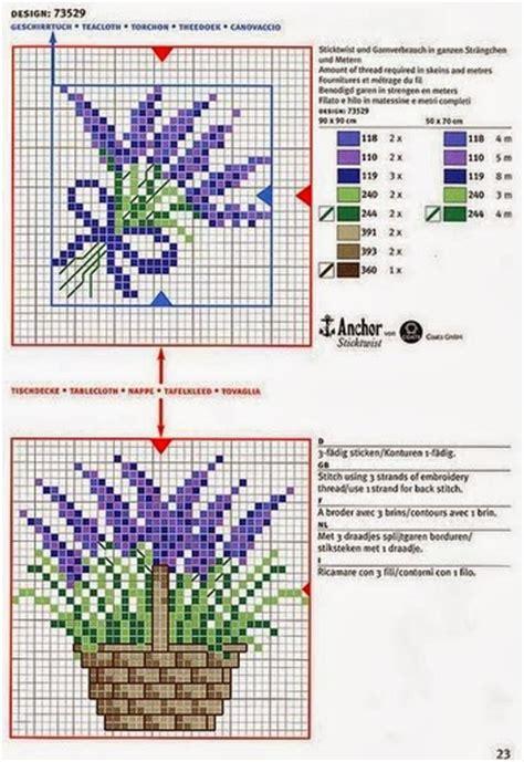 schemi punto croce fiori di lavanda grande raccolta di schemi e grafici per punto croce free