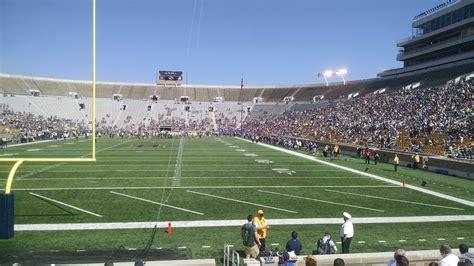 notre dame stadium sections notre dame stadium section 18 rateyourseats com
