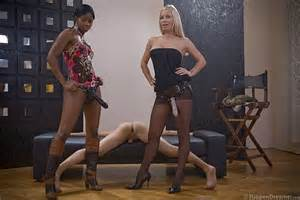 ebony goddess and her best friend turn male into their strapon bitch